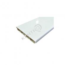 """Μπάζα """"PVC"""" Gloss Λευκό H=100mm, L=4000mm"""