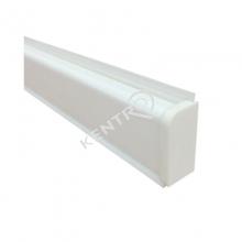 """Αρμοκάλυπτρο τύπου """"D"""" PVC 25x10mm 4m Λευκό"""