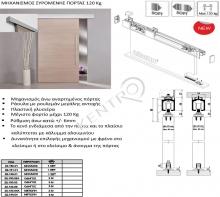Μηχανισμός συρόμενης πόρτας 120 Kg