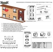 Μηχανισμός συρόμενης ντουλάπας εσωτερικού τύπου 75 Κg