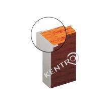 Προφίλ περιθωρίου πάγκου αλουμινίου 40mm