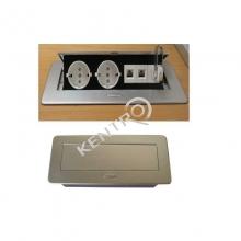 Πολύπριζο πάγκου με καπάκι & USB 265x117mm