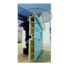 Προφίλ φωτισμού μπάζας για LED  L=4m