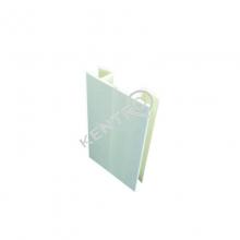 Γωνία μπάζας - 10cm Gloss Λευκό