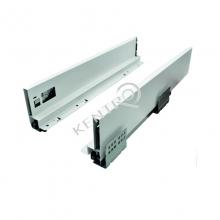 Οδηγός συρταριού με πλαϊνό 88mm FGV Slimbox - 50mm Λευκό
