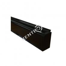 Αρμοκάλυπτο τύπου ''D'' PVC 25x10mm  4m Μαύρο